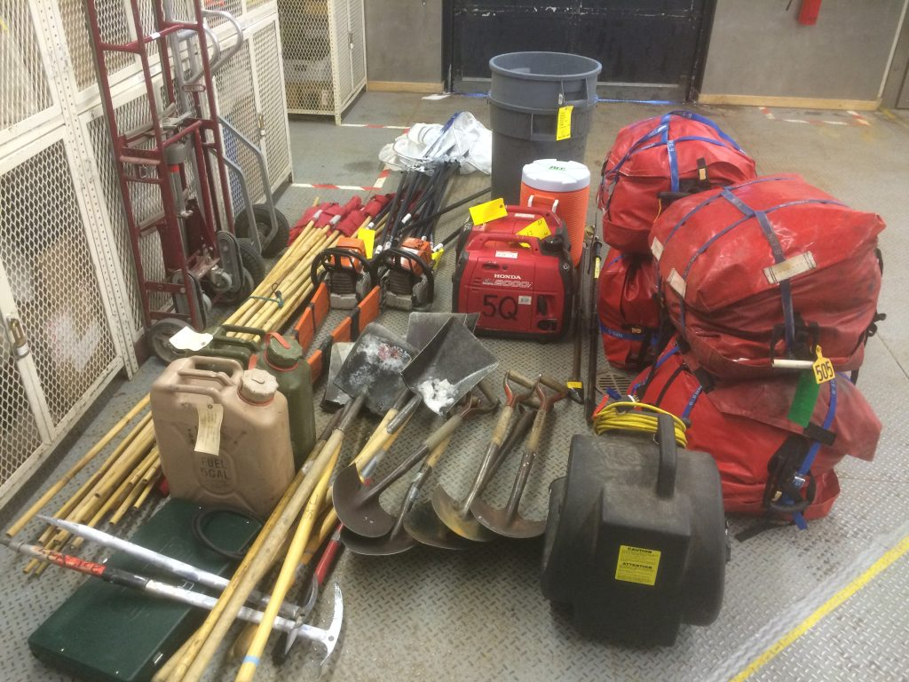 It takes a lot of gear to be safe and get work done in the field